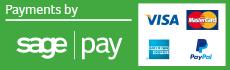 Sage Pay Visa Mastercard Amercian Express PayPal