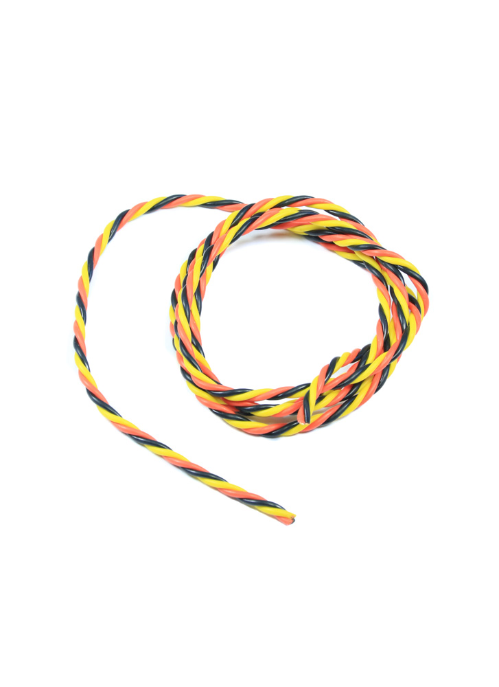 Phenomenal Twisted 22Awg Servo Wire Red Black White Yellow 1Mtr Flying Tech Wiring Database Wedabyuccorg