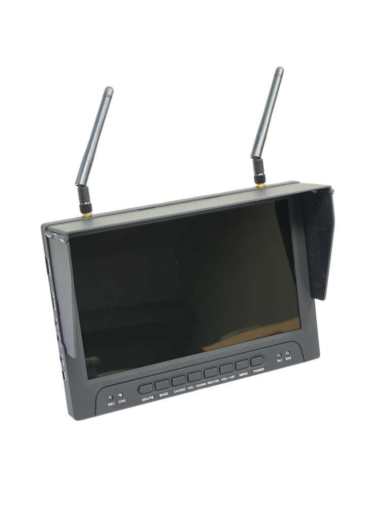 Diverse Battery Monitor : Rc quot fpv hdmi monitor with ch diversity rx dvr
