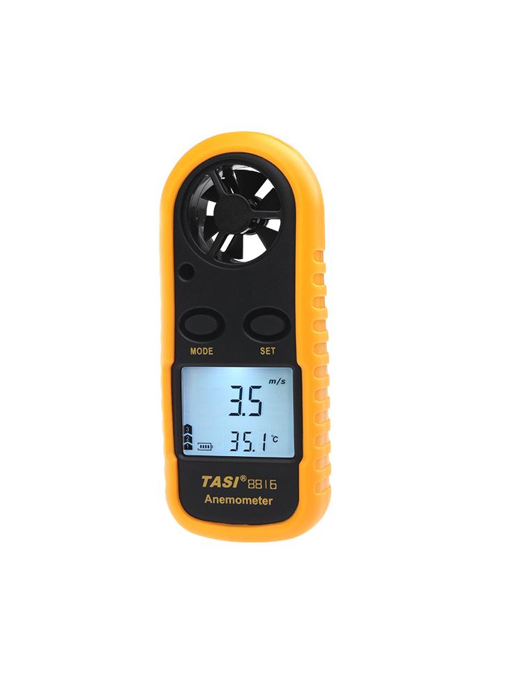 Wind Speed Meter : Mini digital anemometer wind temperature handheld meter