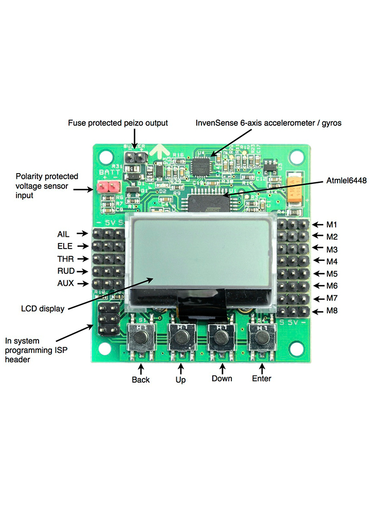 Kk2 1 5 Multirotor Lcd Flight Control Board
