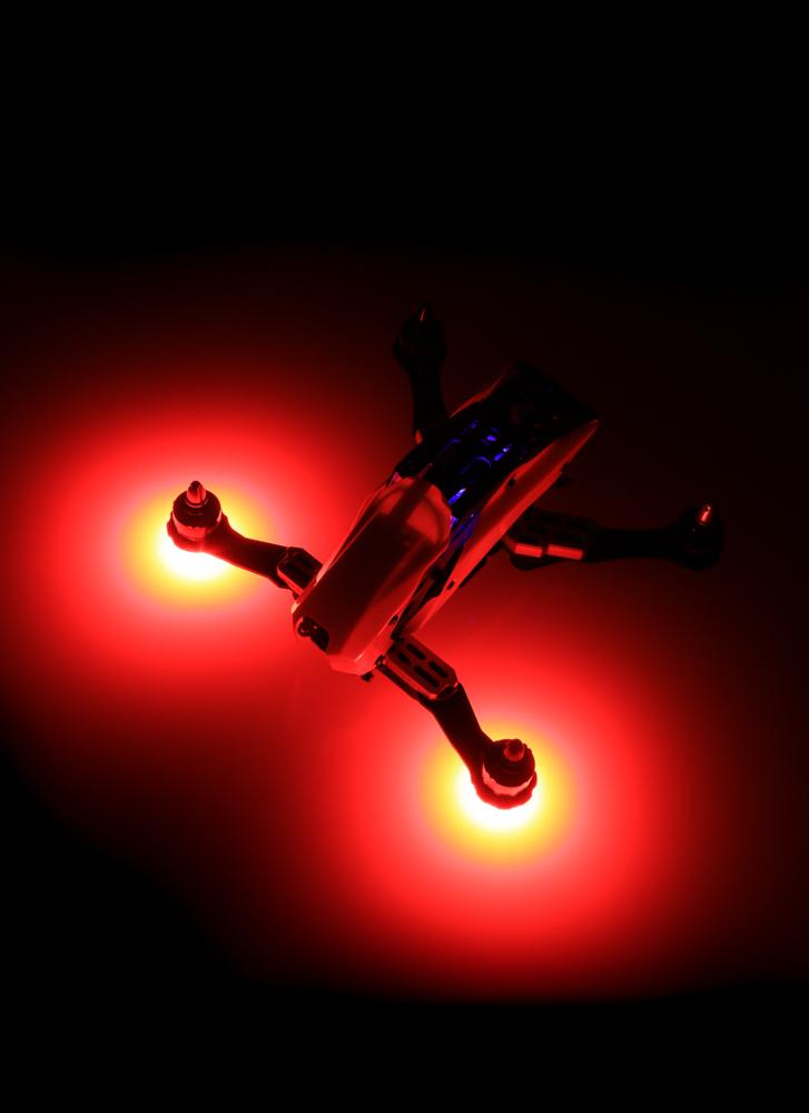 circular 5v drone motor mount led x2 white red green blue flying tech. Black Bedroom Furniture Sets. Home Design Ideas