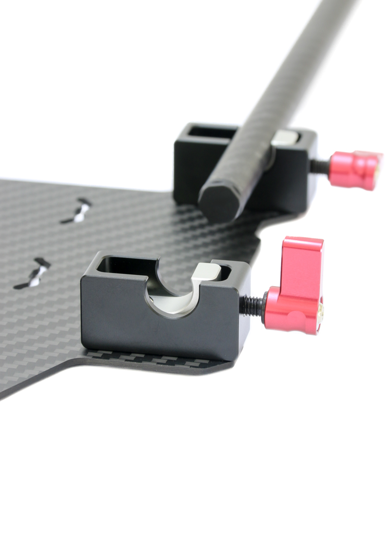 Quick release gimbal battery mount plate mm clamps