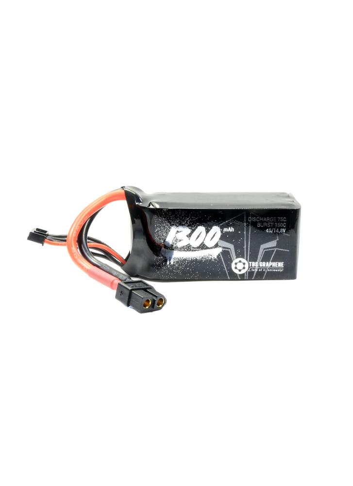 TBS Graphene 1300mAh 4S 75~150C LiPo Battery XT60 | Flying Tech
