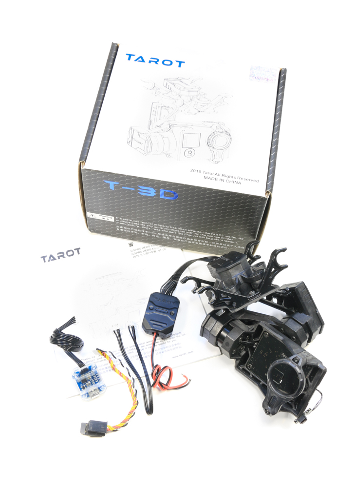 Tarot T4-3D 3 Axis GoPro Hero 4 Gimbal. Box Contents