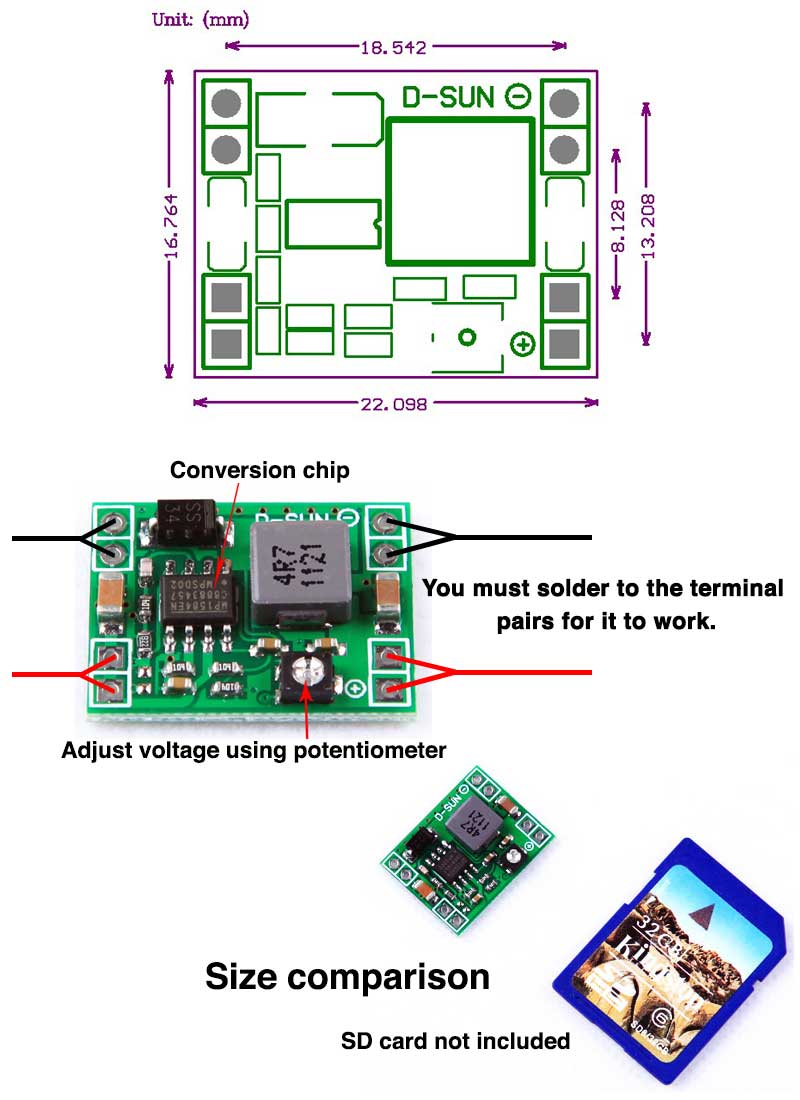 Mini Step Down Voltage Regulator Output 08 20v Flying Tech To Provide The Bec Battery Eliminator Circuit Function Instructions