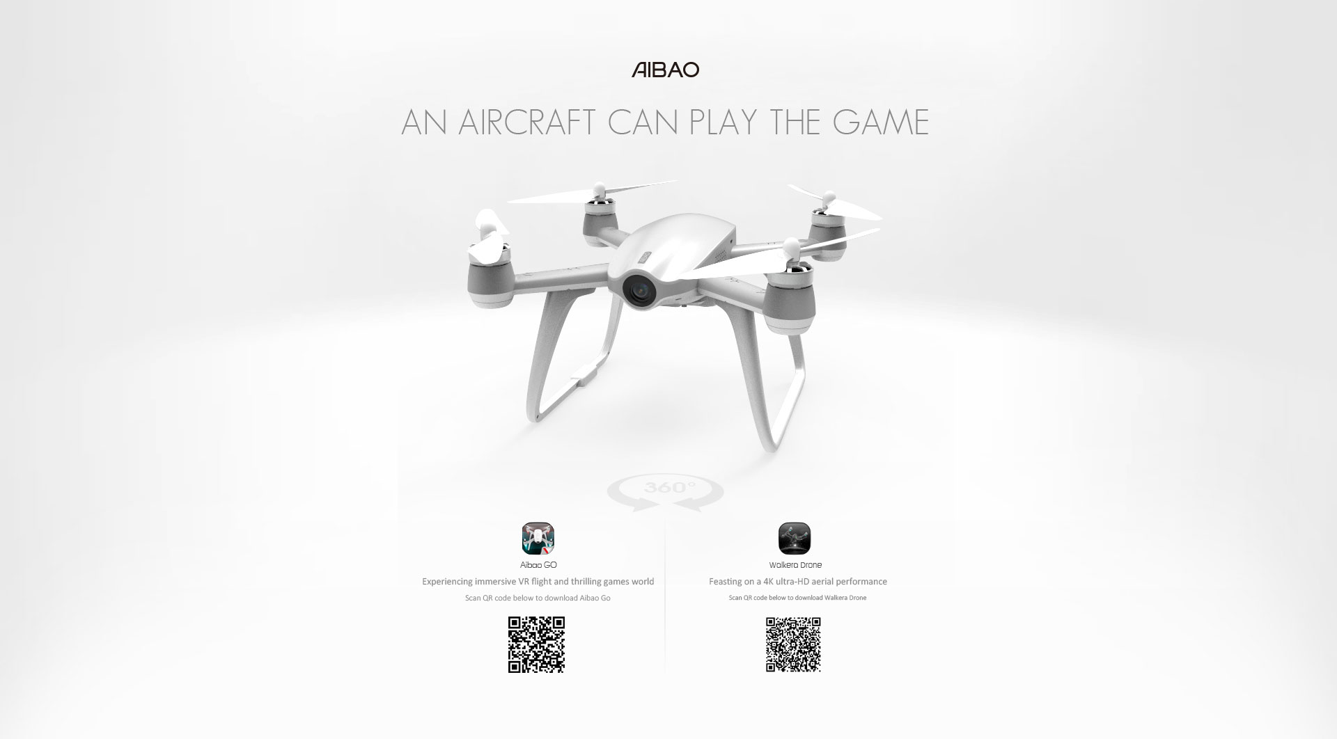 Walkera AIBAO 4K VR FPV GPS Quadcopter with DEVO F8 RTF