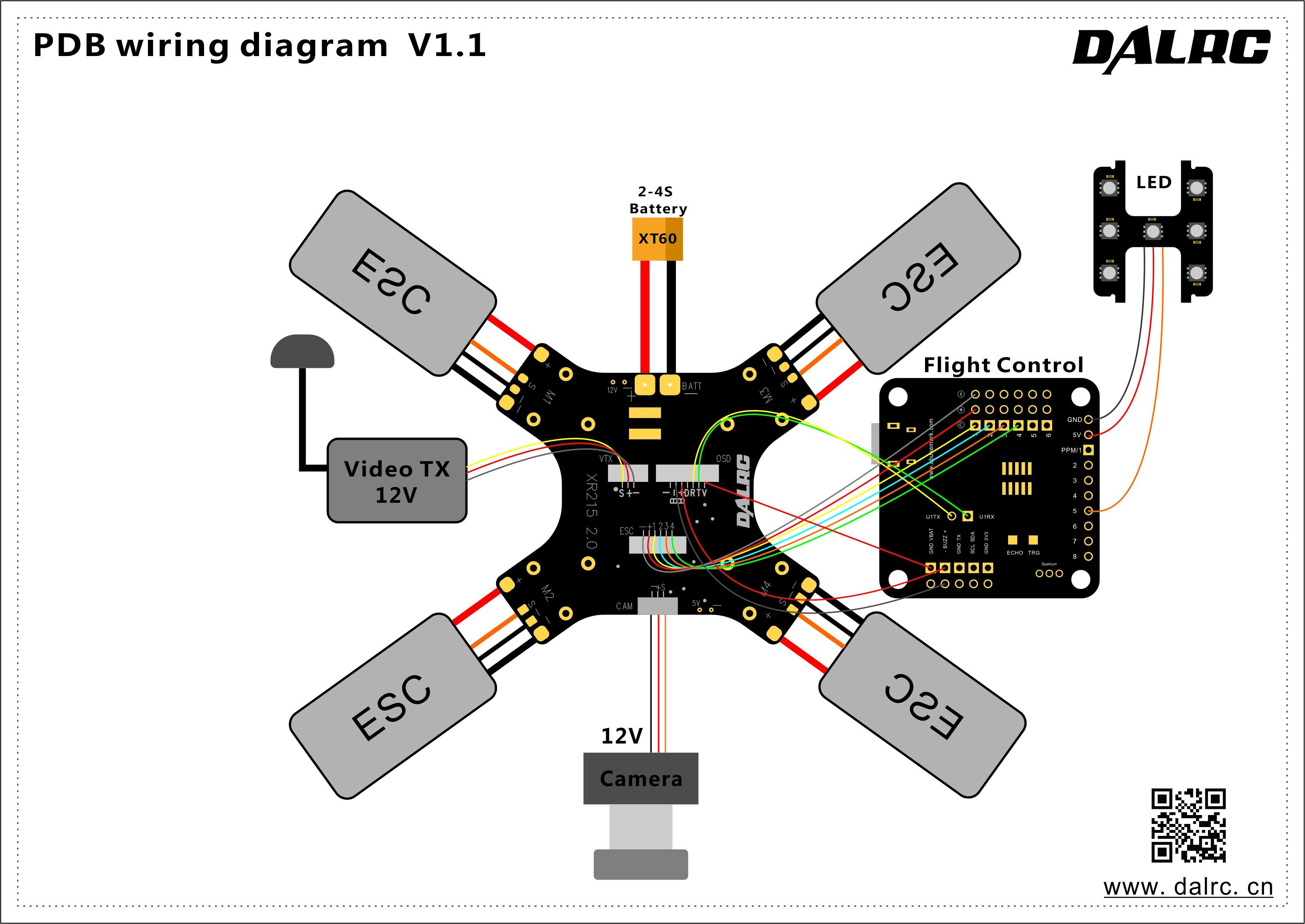 Dalrc Xr215 Plus Racing Drone Frame Built Pdb Osd Buzzer on camera circuit board diagram