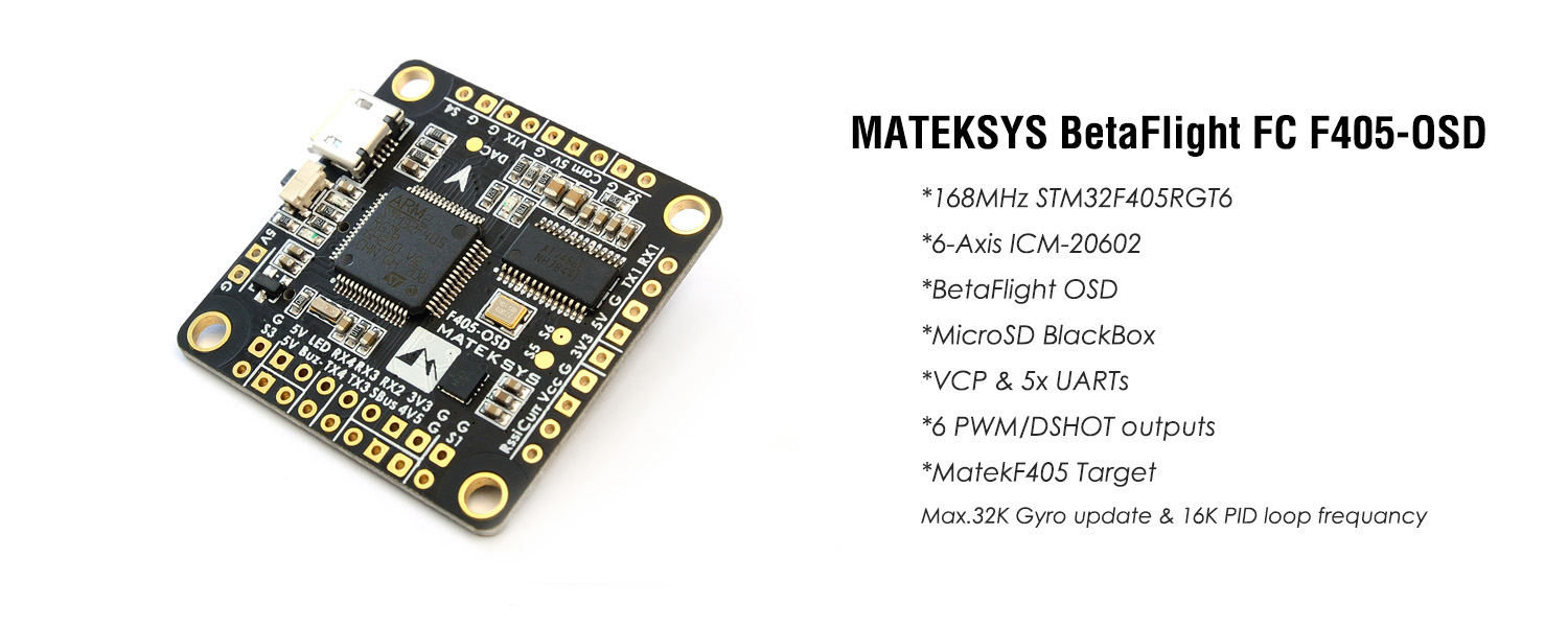 NEW MATEK FLIGHT CONTROLLER F405-OSD Features