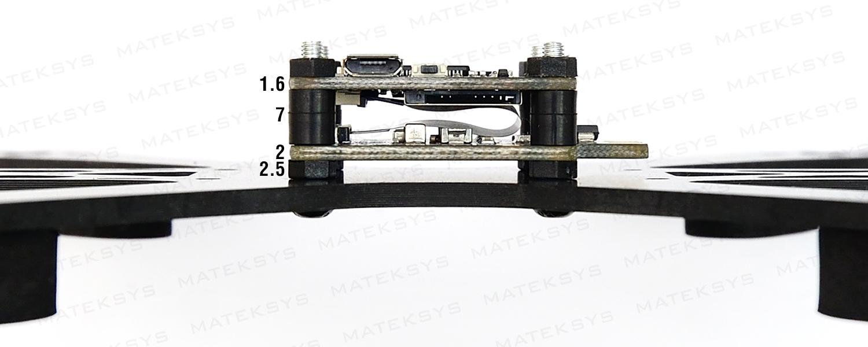 Matek F405-OSD FCHUB-6S Stack