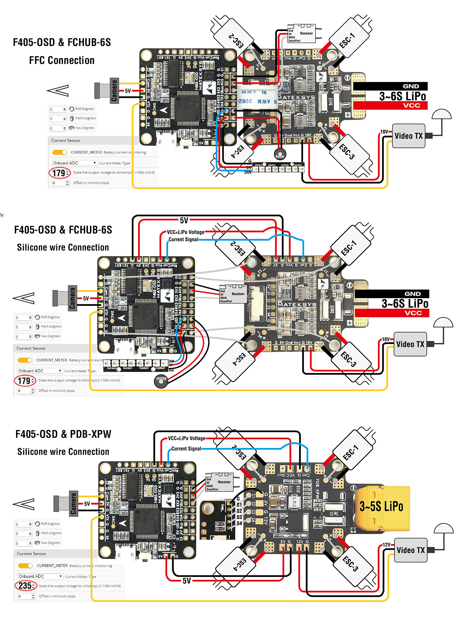 F405-OSD Wiring Diagram