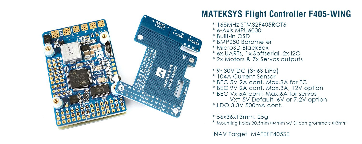 Matek F405-WING FC Features