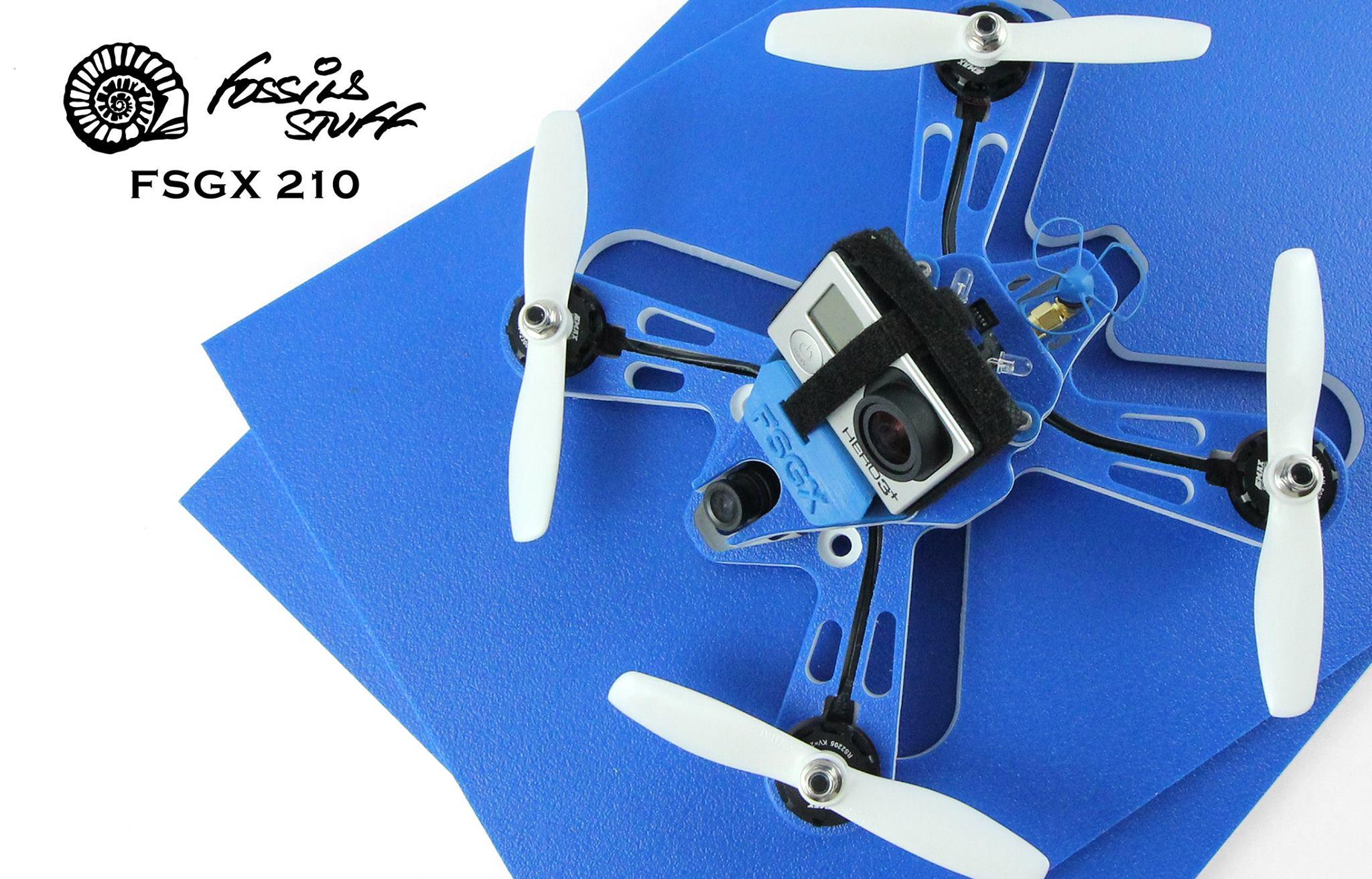 Fossils Stuff Gravity FSGX FPV Racing Drone 210 Quad Frame