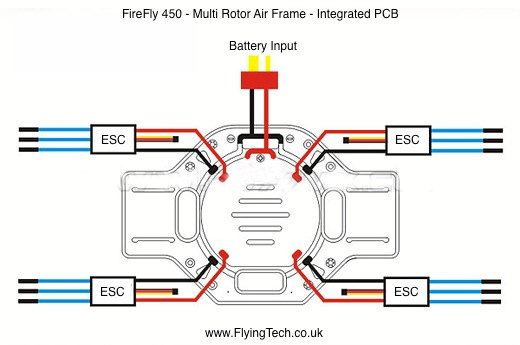 tarot firefly 450 - quadcopter frame | flying tech dji phantom quadcopter wiring diagram f450 quadcopter wiring diagram of #8