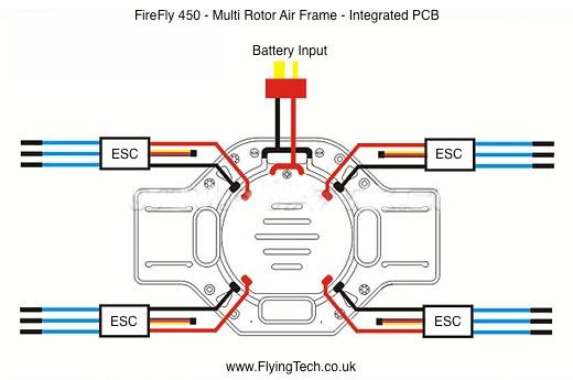tarot firefly 450 quadcopter frame flying tech firefly 450 wiring diagram