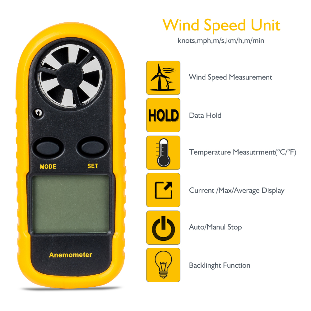GM816 Mini Digital Anemometer Features