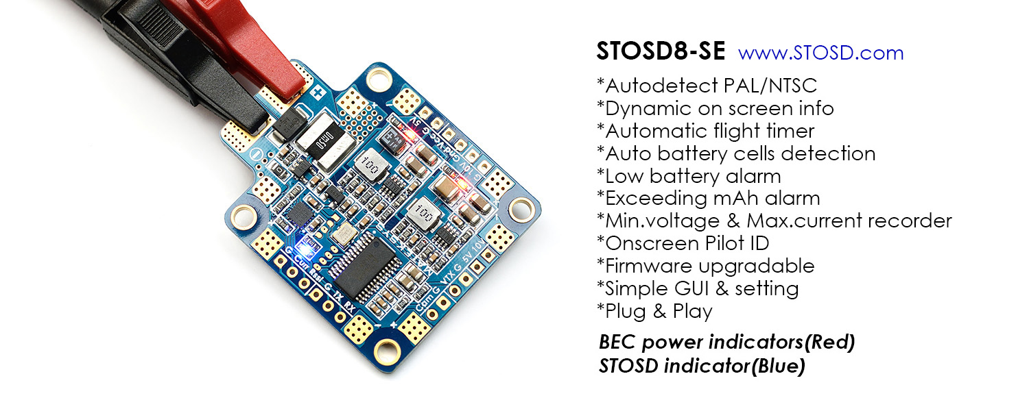 Matek HUBOSD8-SE OSD Features