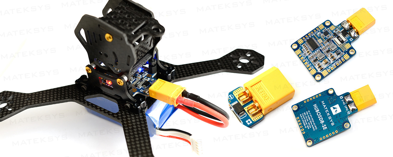 Matek Hubosd8 Se 9 27v Pdb With Current Sensor Dual Bec Flying Tech Naze32 Minimosd Wiring Diagram Micro Connctors