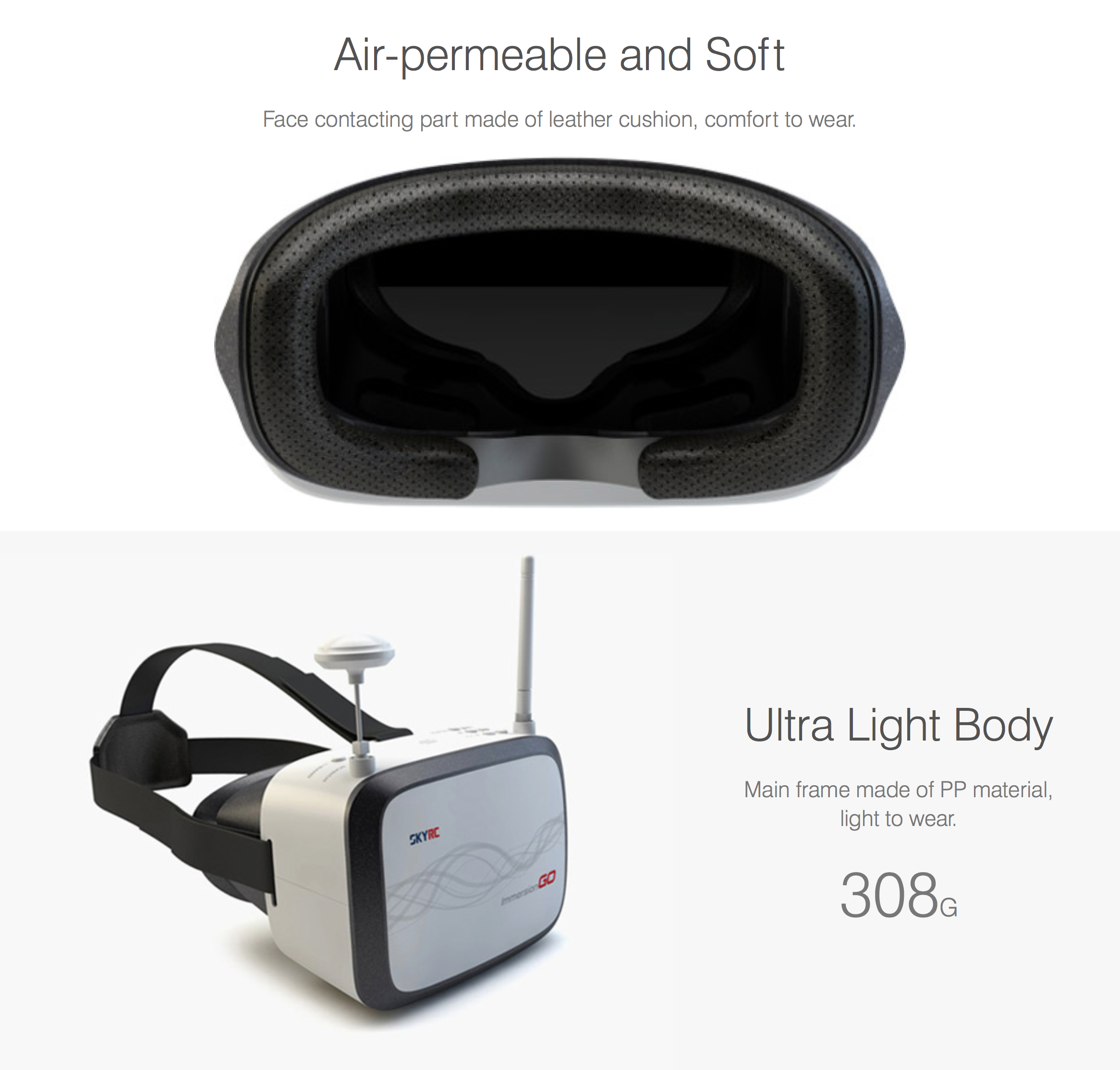 SkyRC Immersion Go Wearable Goggle