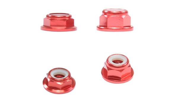M5 CCW Lock Nuts Red AT-LockNutM5-CCW-Red 4 Pcs