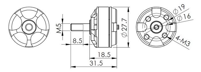 brushless motor sizes