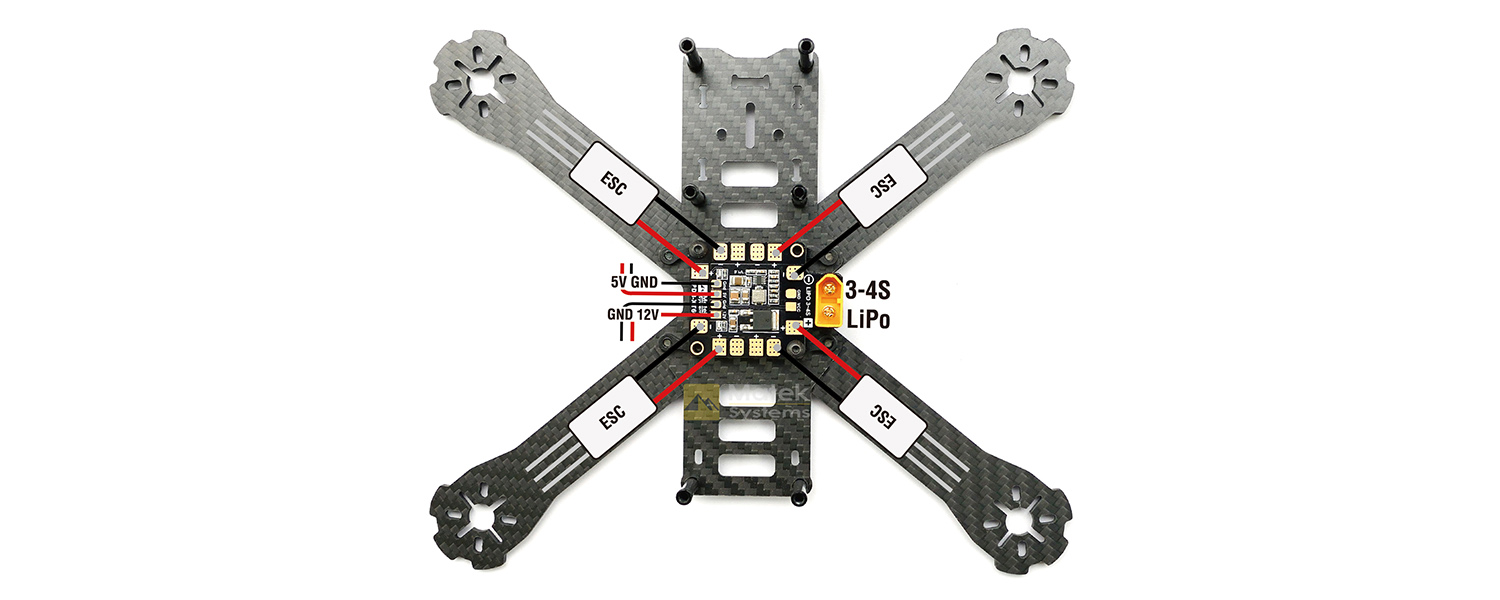 Matek Racing Drone XT60 Power Distribution Board