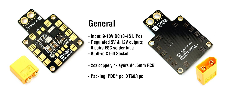 Matek XT60 PDB General Info