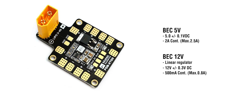 Matek XT60 PDB Bec Outputs