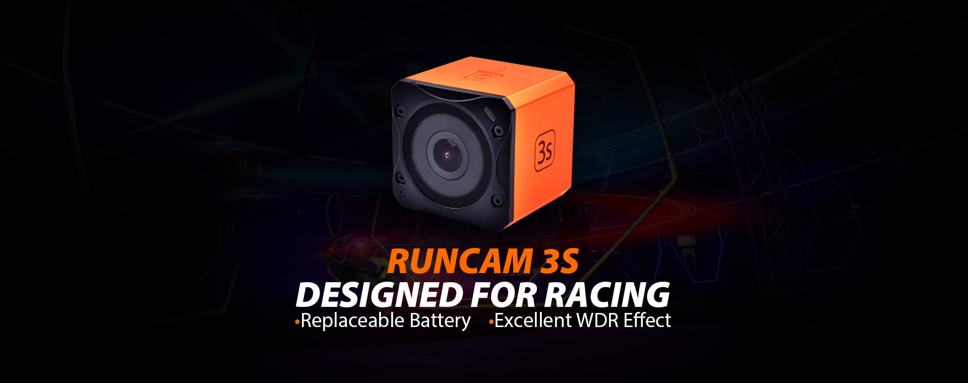 RunCam 3S HD Wide Angle FPV Action Camera (1080p / 60fps)