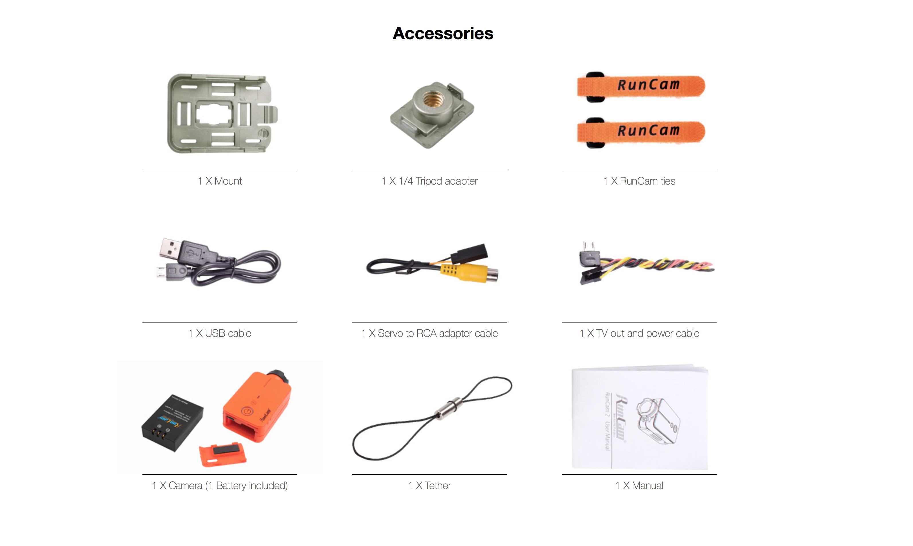 RunCam 2 Accessories