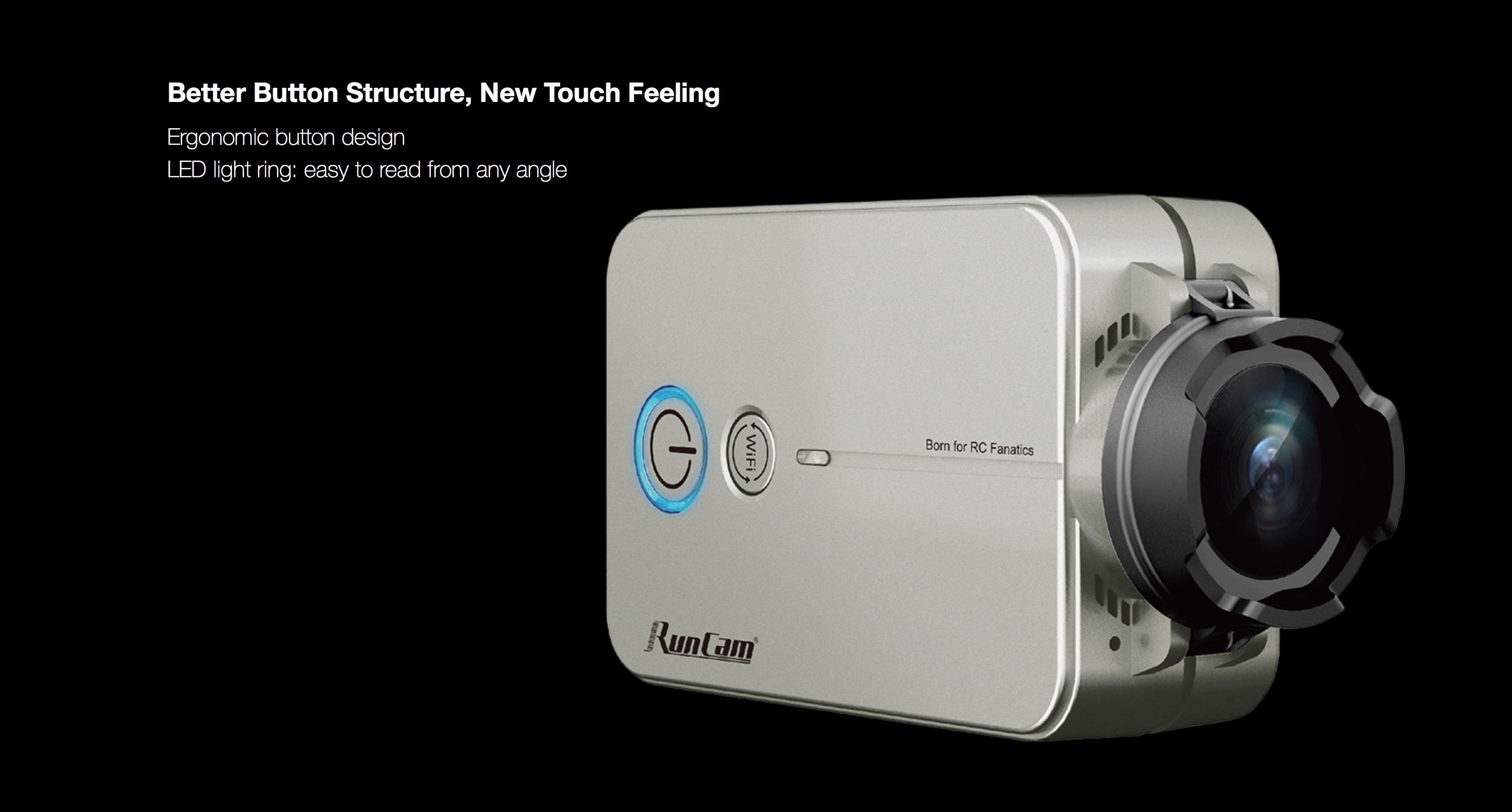 RunCam 2 Better Button Structure, New Touch Feeling