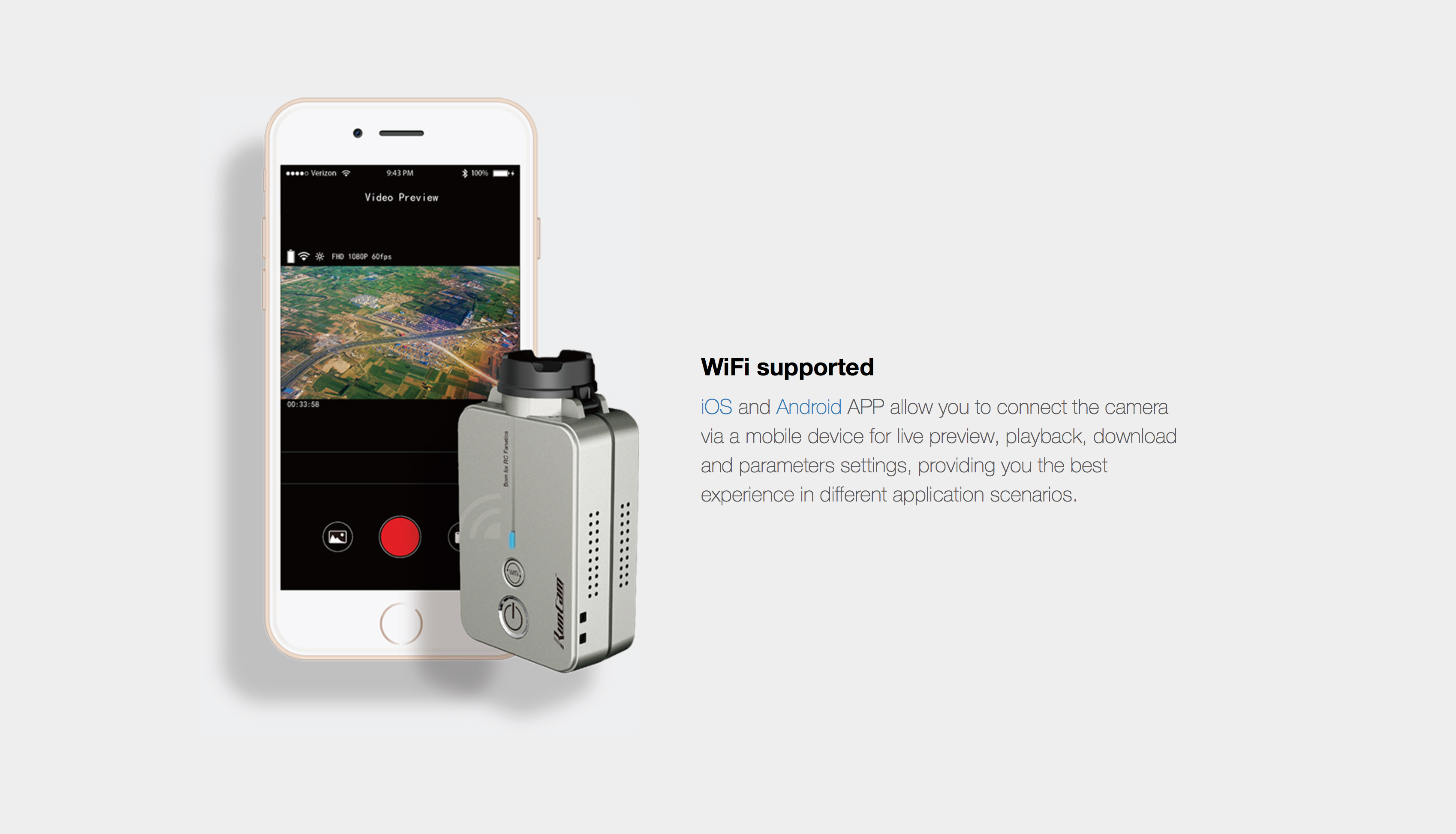 RunCam 2 WiFi supported