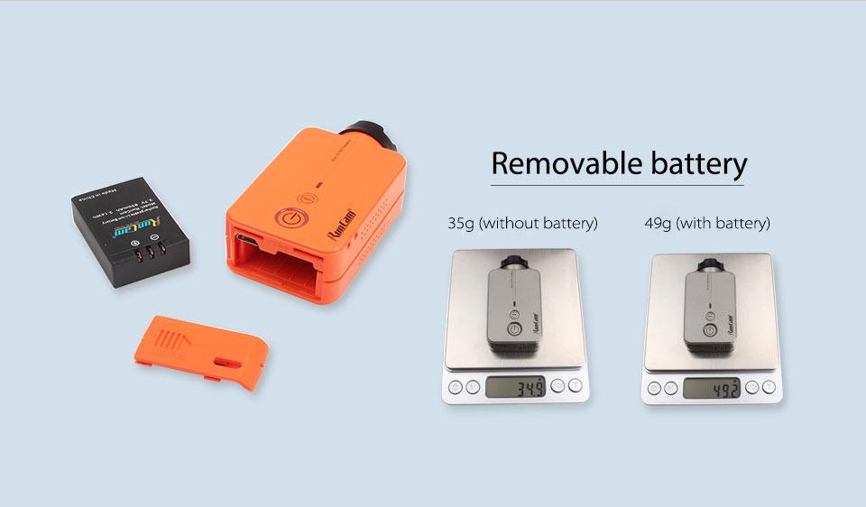 RunCam 2 Removeable Battery