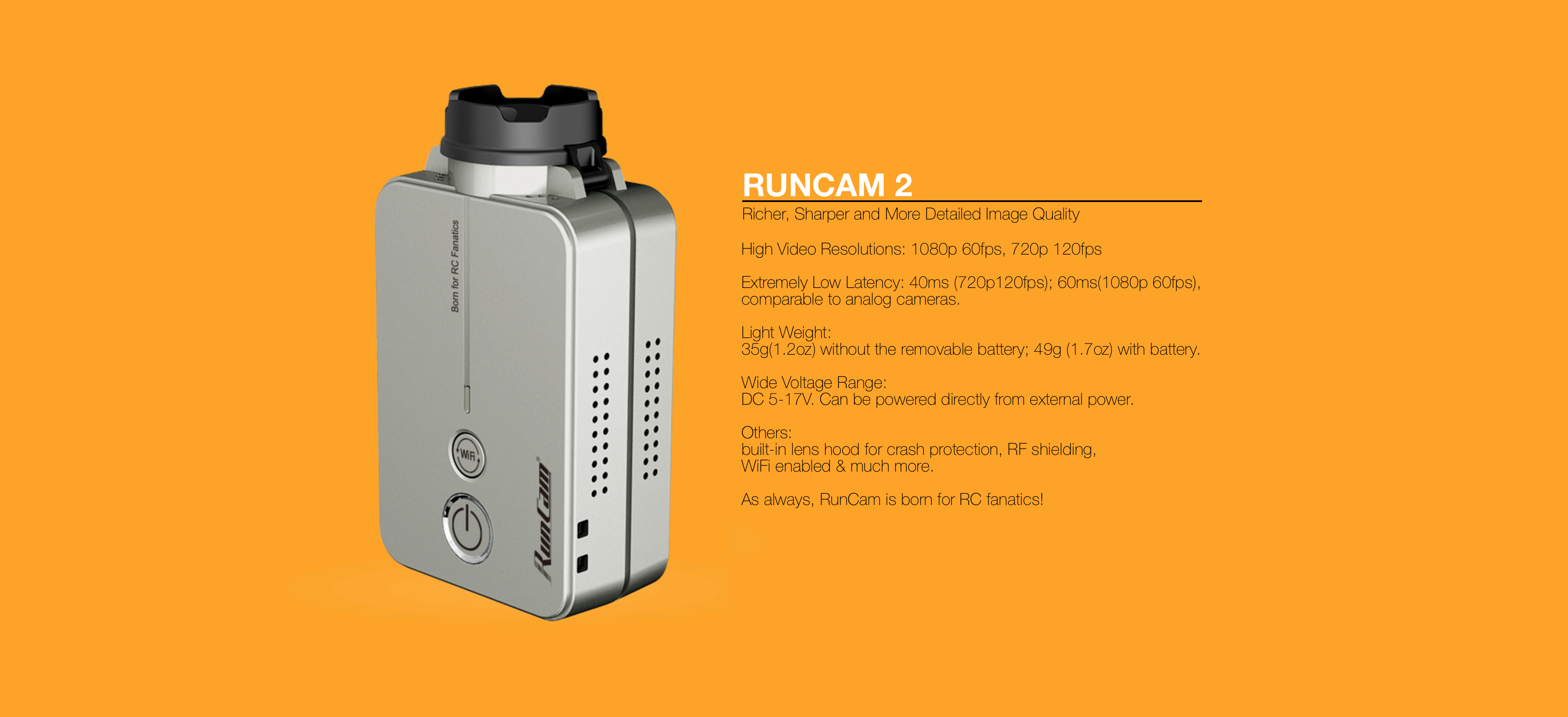 RunCam2 Specification