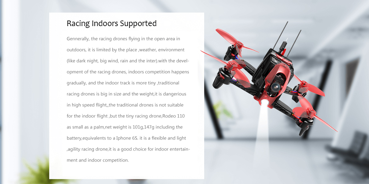 Rodeo 110 Mini Drone Perfect for Indoor Flying