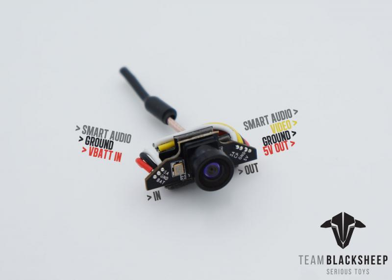TBS Tiny Camera Wiring & TBS Unify Pro Nano VTX combo