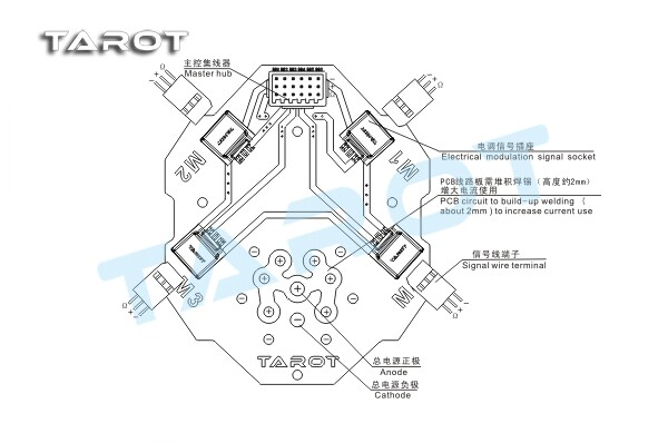 Tarot Quad Power Distribution Board Signal Hub Tl4x004 Flying Techrhflyingtechcouk: Quadcopter Power Distribution Board Wiring Diagram At Gmaili.net