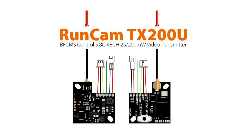 RunCam TX200U 5.8GHz 48CH 25/200mW Micro FPV VTX