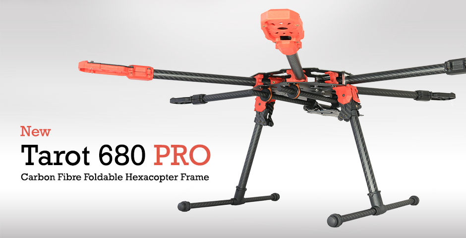 Tarot 680 PRO Carbon Fibre Foldable Hexacopter Frame | Flying Tech