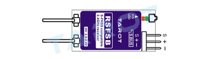 Tarot RSFSB Micro 2.4Ghz 8CH Futaba Compatible SBUS Receiver Wiring Diagram