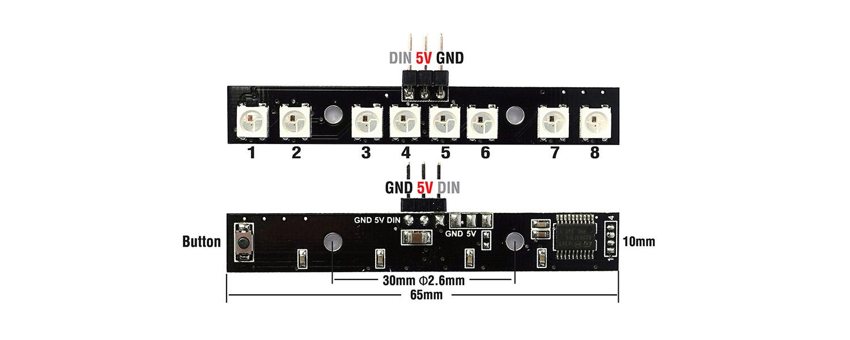 Matek MCU LED Size