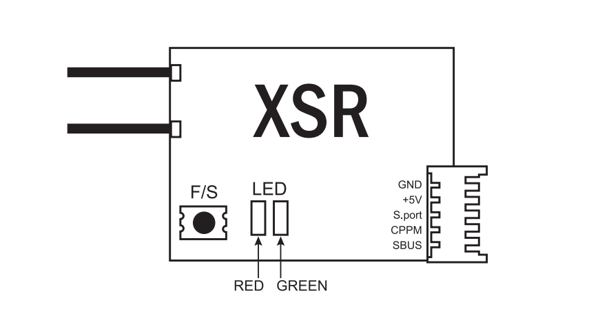 FrSky XSR 2.4GHz 16CH ACCST Receiver with SBUS & CPPM