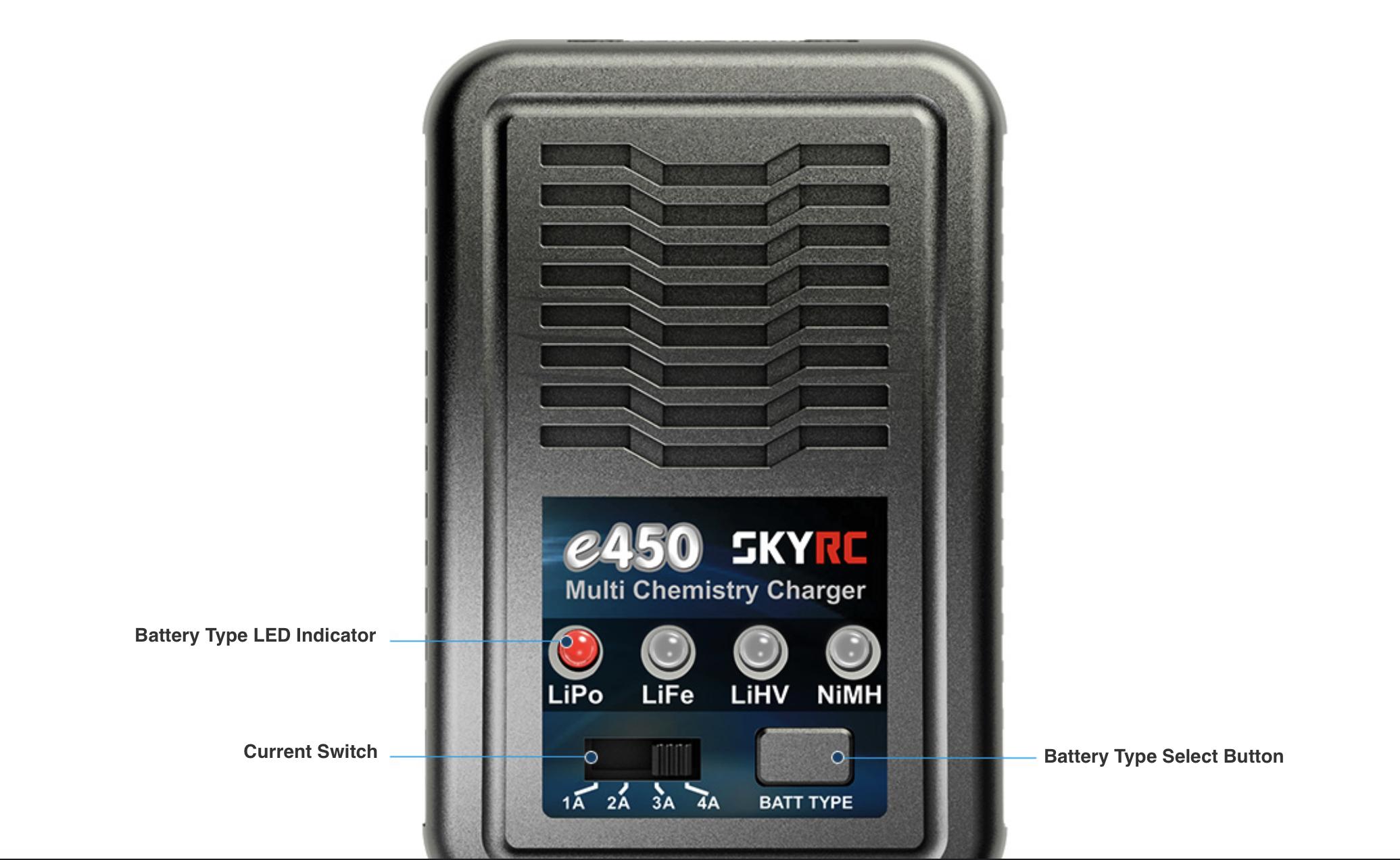 SkyRC e450 Buttons