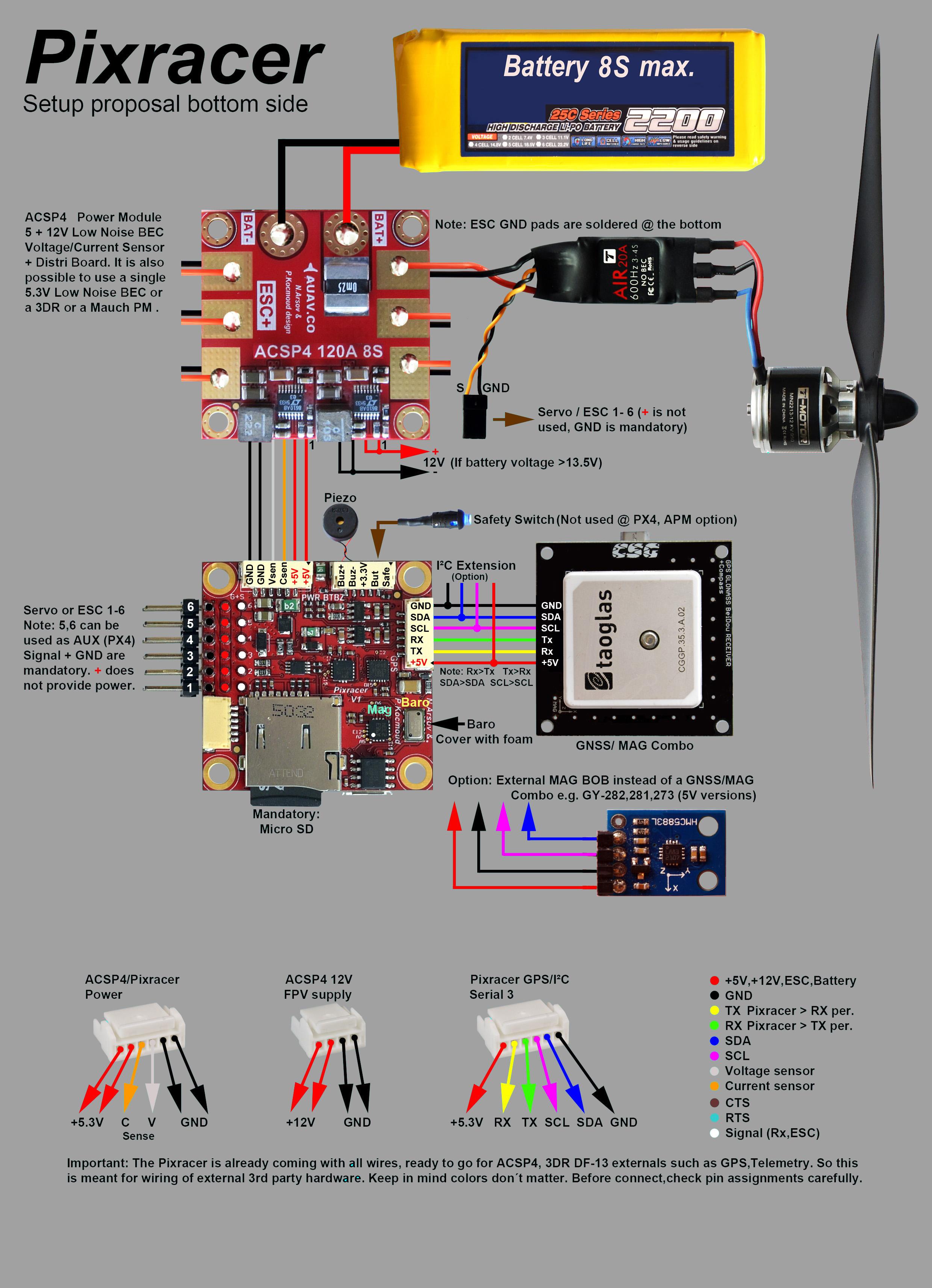 Mini PX4 Pixracer V1 0 Flight Controller Autopilot with WiFi