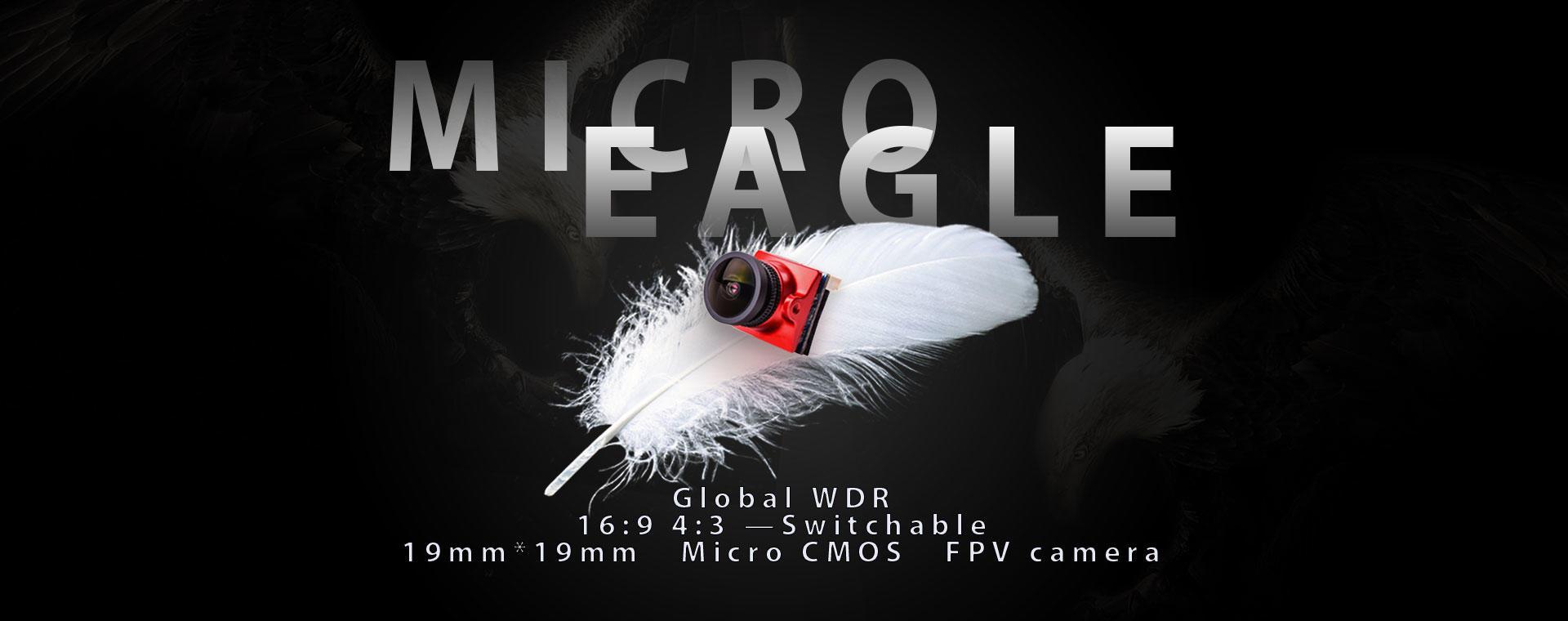 Runcam Micro Eagle 16:9/4:3 FPV Camera w/ BF Remote Control