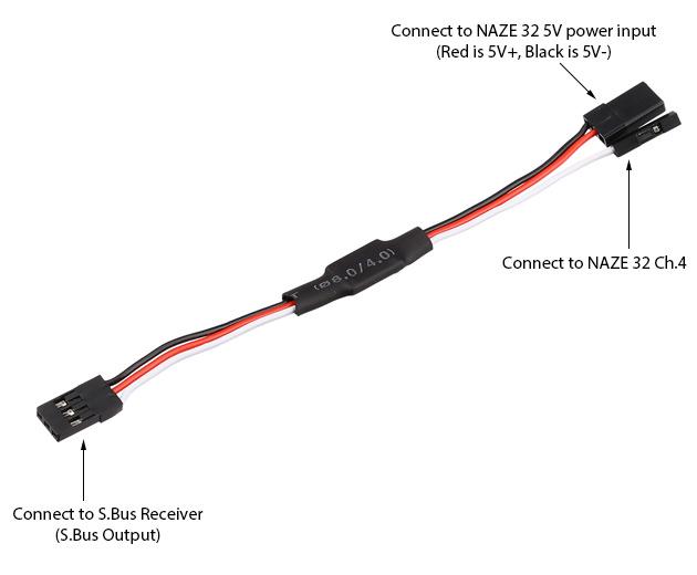 sbus inverter wiring sbus signal inverter for naze32 rev5 flying tech