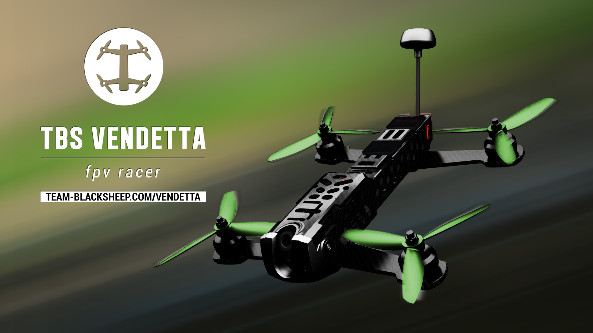 TBS Vendetta II V2 FPV Racing Drone with Colibri V2 FC & OSD