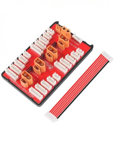 Power-Genius 2 In 1 Fused Parallel Charging Board XT30 / XT60 2-6S JST-XH with Balance Wire