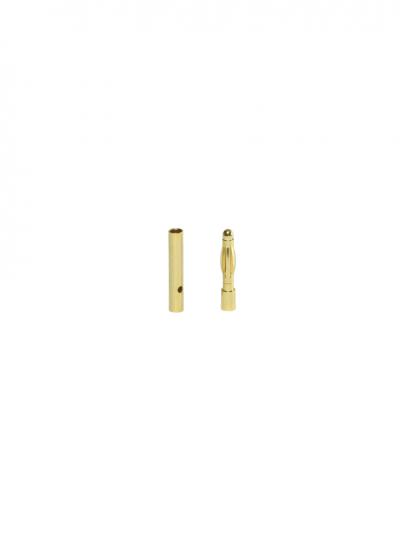 2mm Gold Bullet Connector Pair Male / Female