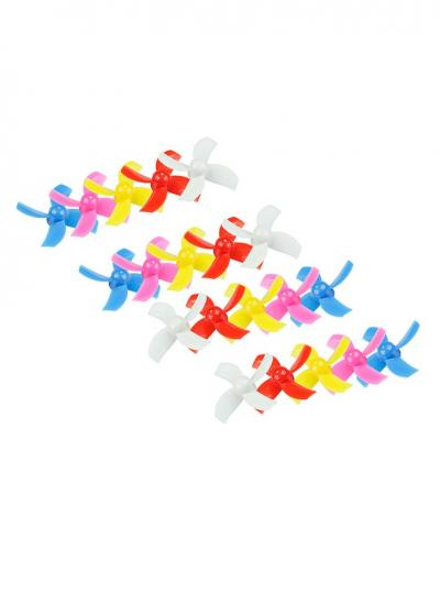 LDARC 31MM 4 Blade Brushed Props - Rainbow Bag 10 Pairs CW / CCW (0.8MM HUB)